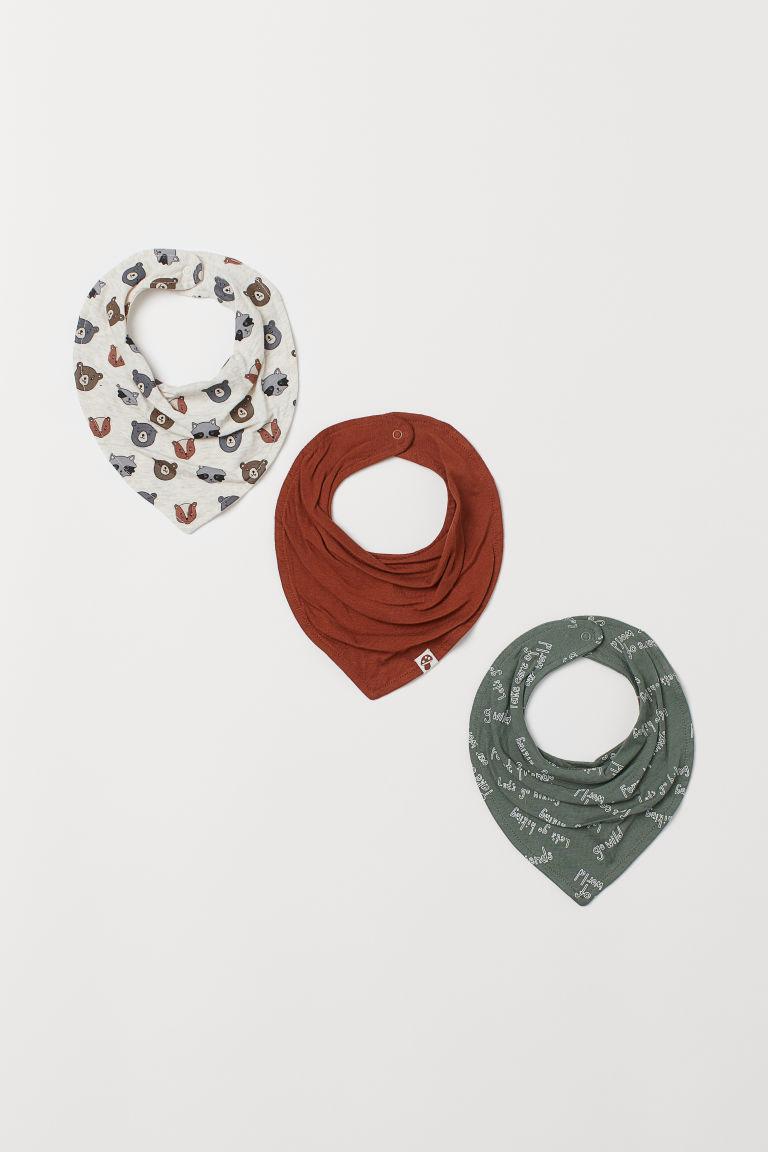 3-pack triangular scarves - Light beige/Animals - Kids | H&M GB