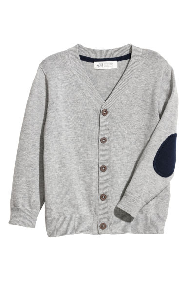 Fine-knit cardigan - Grey marl - Kids | H&M CN