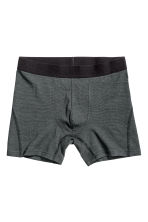 3-pack trunks - Dark grey/Striped - Men | H&M 4
