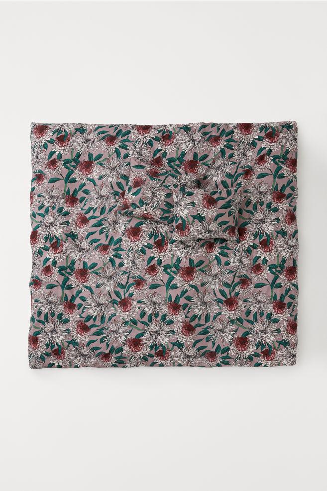 Cotton Duvet Cover Set - Purple/floral - Home All | H&M US 2