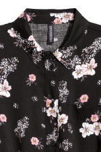 Shirt dress - Black/Floral - Ladies | H&M IE 3