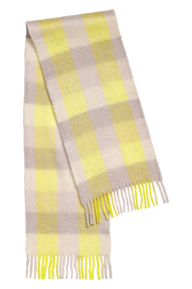 Scarf - Light yellow/grey -  | H&M CN