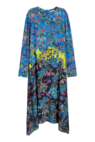 Patterned dress - Blue/Floral - Ladies | H&M