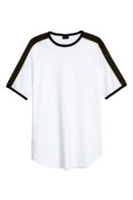 T-shirt with panels - White - Men | H&M 1