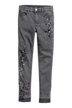 Twill trousers Skinny Fit - Grey washed out - Kids | H&M CN 2