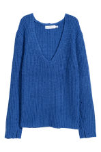 Double-knitted jumper - Cornflower blue - Ladies | H&M 2