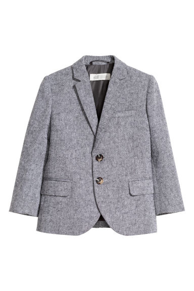 Cotton jacket - Grey marl -  | H&M