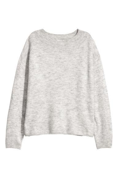 Fine-knit jumper - Grey - Ladies | H&M GB
