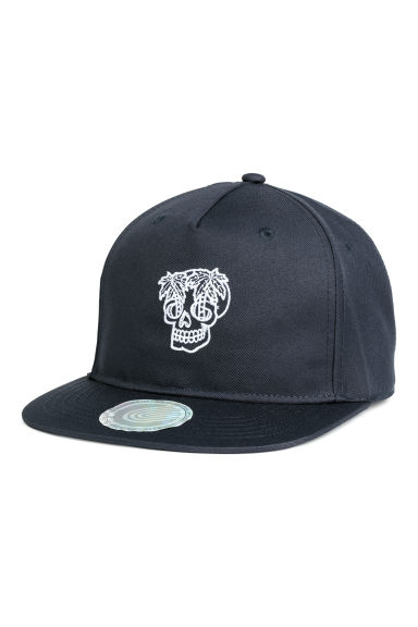 Cap with embroidery - Dark blue/Palm trees - Kids | H&M CN