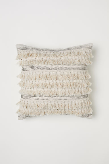 Decorated cushion cover - Beige -  | H&M CN