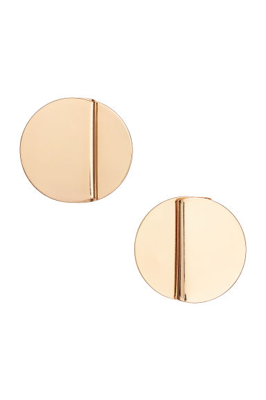 Round earrings - Gold-coloured - Ladies | H&M