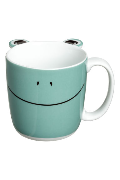 Animal-motif mug - Green/Frog - Home All | H&M IE