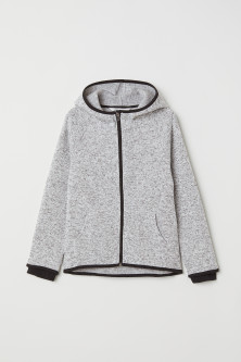 Knitted fleece jacket
