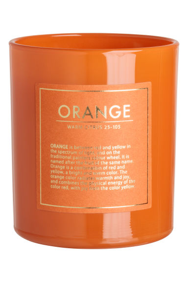 Scented candle in a glass jar - Orange/Warm Citrus - Home All | H&M GB