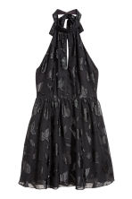 Chiffon halterneck dress - Black - Ladies | H&M 2