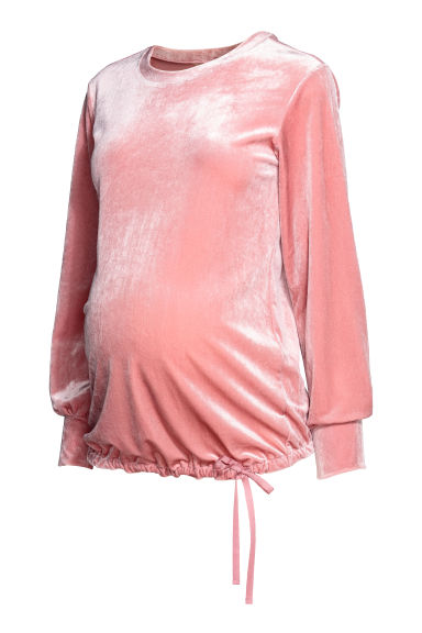 MAMA Velour top - Pink - Ladies | H&M IE