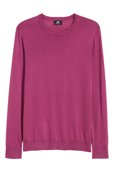 Merino wool-blend jumper - Cerise -  | H&M GB