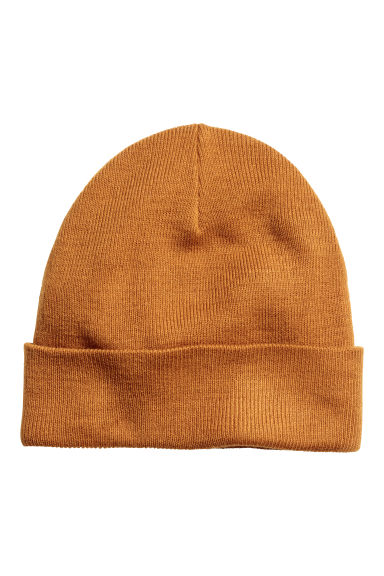 Knitted hat - Ochre - Men | H&M