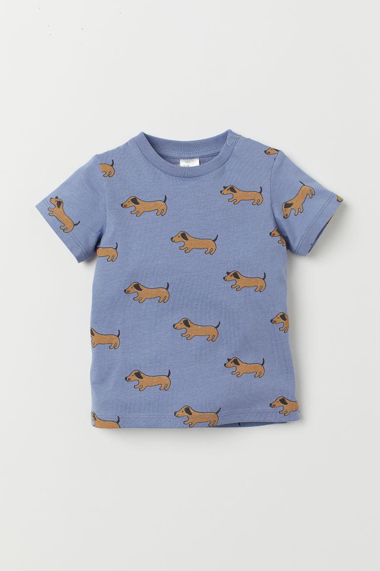 T-shirt - Blue/Dogs - Kids | H&M GB
