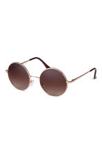 Round sunglasses - Gold - Ladies | H&M GB 2