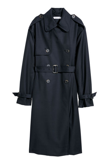 Trenchcoat - Dark blue - Ladies | H&M CN