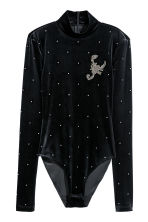 Body with sparkly stones - Black/Sparkly stones - Ladies | H&M IE 2
