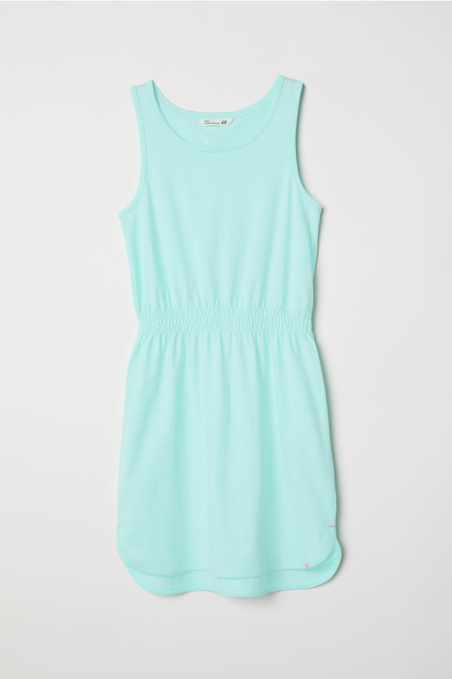 Robe sans manches en jersey - Turquoise -   H&M FR 1