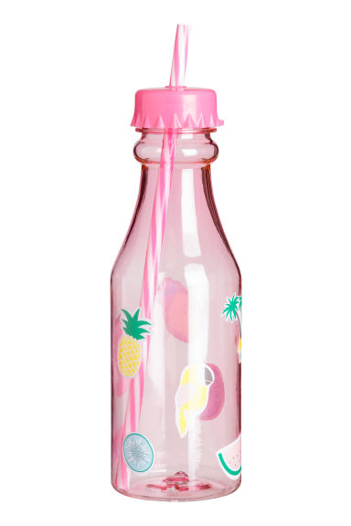 Bottle with a straw - Pink - Home All | H&M CN