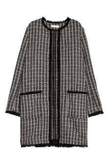 Textured-weave Coat