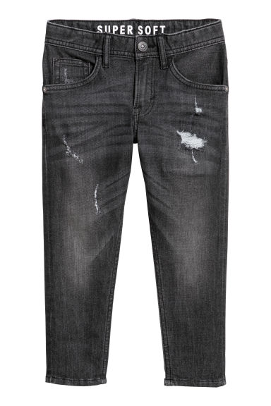 Relaxed Tapered fit Jeans - Denim negro - NIÑOS | H&M ES