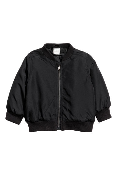 Padded bomber jacket - Black - Kids | H&M CN