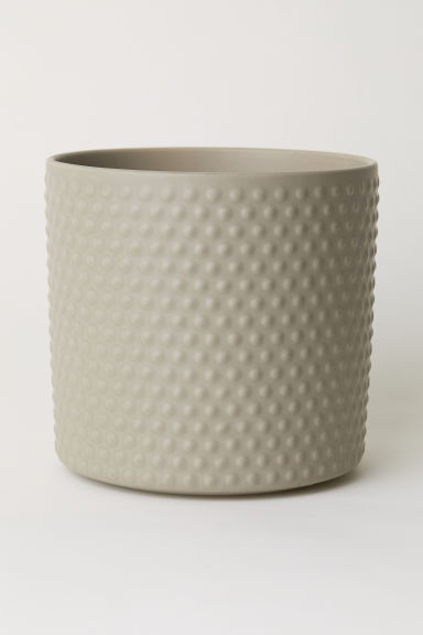 Large stoneware plant pot - Mole - Home All | H&M CN