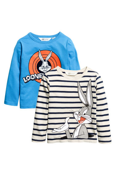2-pack jersey tops - Blue/Bugs Bunny - Kids | H&M