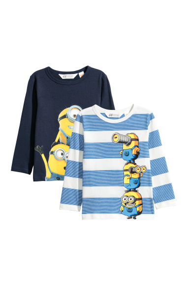 2-pack jersey tops - White/Minions - Kids | H&M