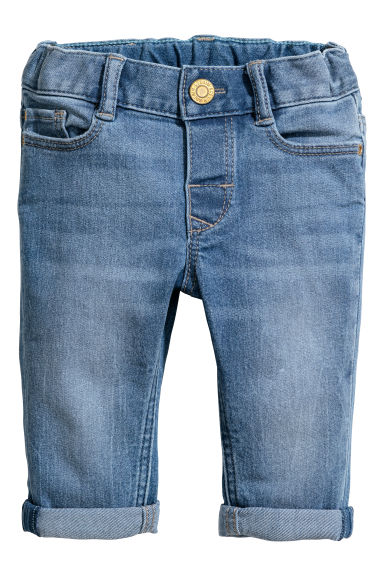 Slim fit Jeans - Azul denim claro -  | H&M PT