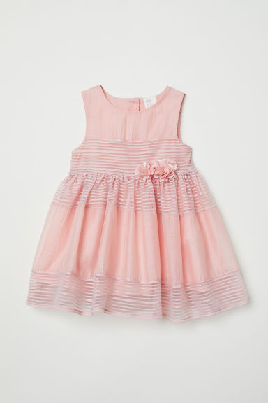 Dress with flowers - Light pink - Kids | H&M CN
