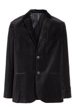 Velvet jacket Slim fit - Dark blue - Men | H&M 2