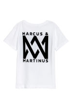 Printed T-shirt - White/Marcus & Martinus - Kids | H&M 3