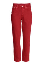 Vintage High Cropped Jeans - Rood - DAMES | H&M BE 2
