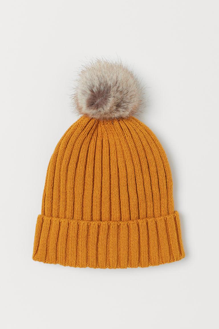 Ribbed hat - Dark yellow - Kids | H&M GB