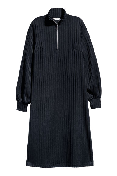 Ribbed dress - Dark blue -  | H&M CN