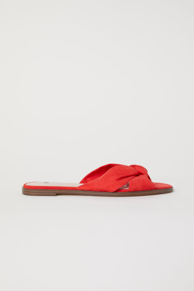 Slippers - Felrood -  | H&M BE