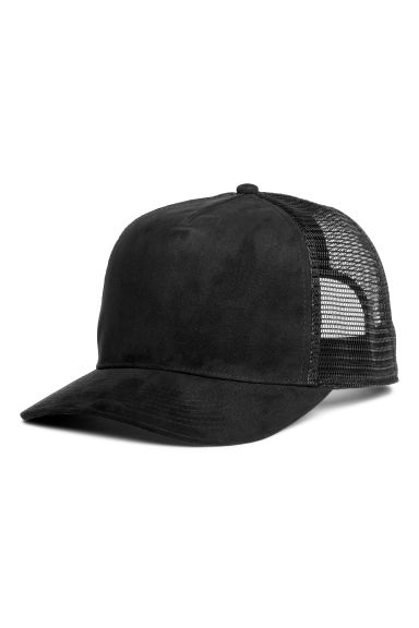 Imitation suede cap - Black - Men | H&M IE