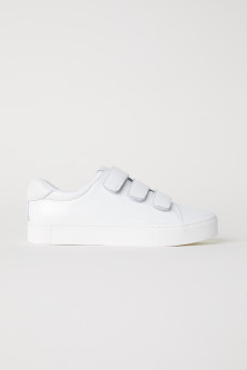 Patent leather trainers