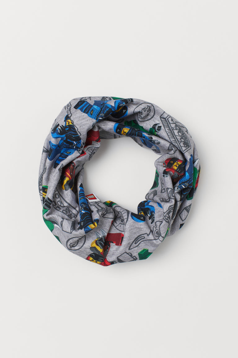 Jersey tube scarf - Grey marl/Ninjago - Kids | H&M GB