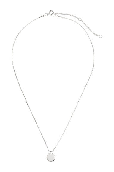 Necklace with a pendant - Silver-coloured -  | H&M