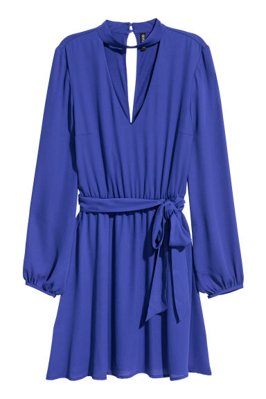 V-neck dress - Bright blue - Ladies | H&M