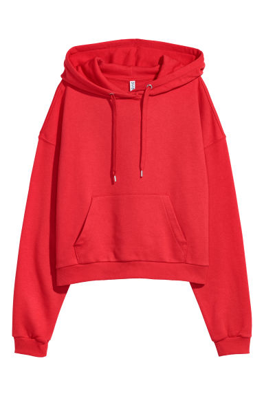 Short hooded top - Red - Ladies | H&M IE