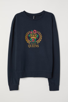 Sweatshirt with Printed Design