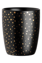 Porcelain cup - Black/Gold-coloured spots - Home All | H&M IE 1
